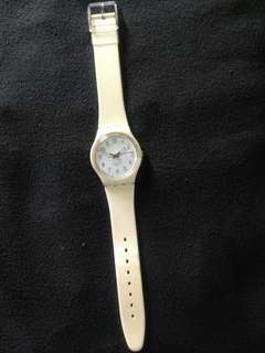 Swatch Standart Gent || 3.4cm || WR 60meter || good kondisi || strap original || only watch Whatsapp 089651705575