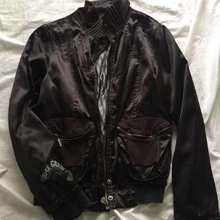 Silk and Cotton Bomber Jacket