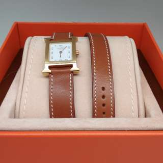 Hermes Watch Double Tour Gold GHW