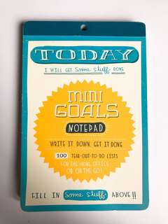 100 days mini Goals notepad