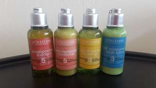 🚚 LOCCITANE toiletries travel set