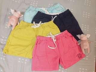 🚚 四色童趣短褲 四件一起售