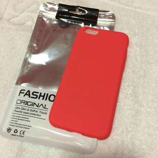 •brandnew• Iphone 6, Iphone 6s Red Soft Matte Cover Case