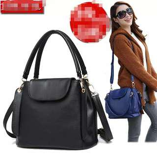 PO Quality 3 Compartments 2 Ways Carry Sling Bag