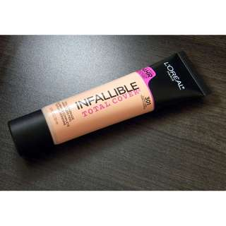 L'oreal Infallible Total Cover Foundation in 301