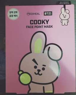 BTS BT21 Cooky Face Point Mask (全新未拆)
