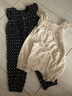 Carters romper set 3-6 months
