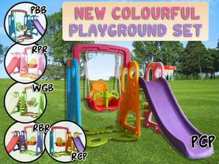 NEW COLOURFUL PLAYGROUND SET wasap 0176725125