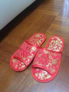 結婚 上頭拖鞋