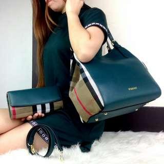 HIGH QUALITY Tas Fashion Wanita Murah Tote Bag with Clutch QUALITY SEMI PLATINUM Sertifikat Longstrap Dustbag #4088