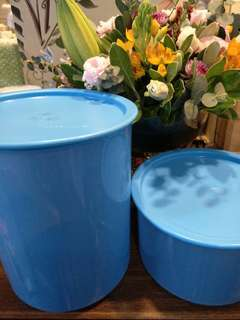 (New) Tupperware One Touch Canister + Topper