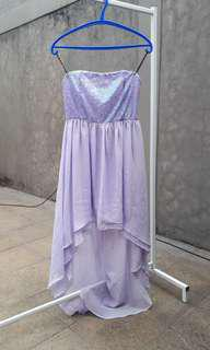 Dress Forever21 Ungu Pesta Gown