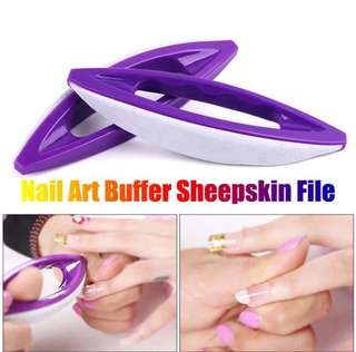 Nail Art Sheepskin Buffer