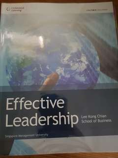 Effective leadership txtbk and AS Textbook