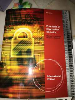 🚚 Principles of information security (4th edition)