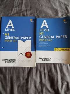 H1 GP A Level Practice Papers (2006-2015)
