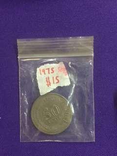 [TSHSE] Vintage Singapore 1975 50 Cents