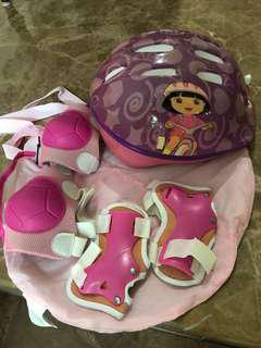 Kids helmet and Guards
