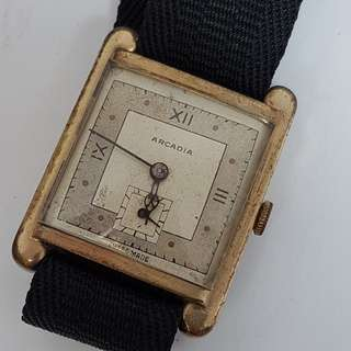 Arcadia Hand Winding Swiss Vintage Watch