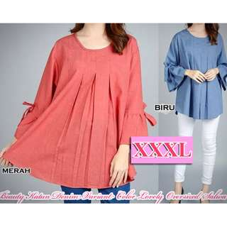 Atasan XXXL Beauty Katun Denim Variant Color Lovely Oversized Salwa