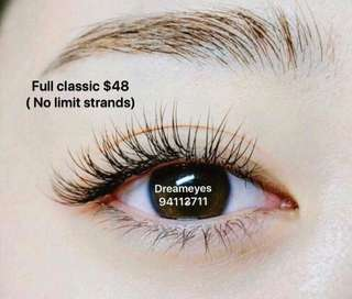 Japanese 1D full lash ( no limit strands)