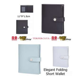 Japan Quality - Dompet Elegant Folding Short Wallet Miniso Wanita