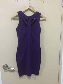 Miss Selfridge Purple Bodycon Evening Dress (UK8)
