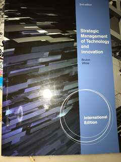 🚚 Strategic Management of Technology and Innovation