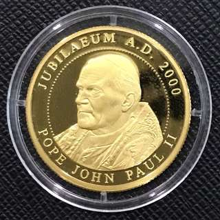 Order of Malta Pope John Paul II Jubilaeum A.D. Proof 2000 Gold Coin
