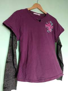 Pre-loved] Women's Top, Retro Style, Long Sleeve, Cotton Material