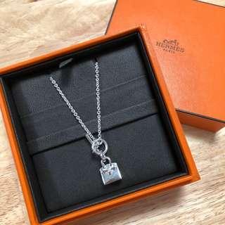 HERMES Birkin Amulette Pendant 純銀頸鍊