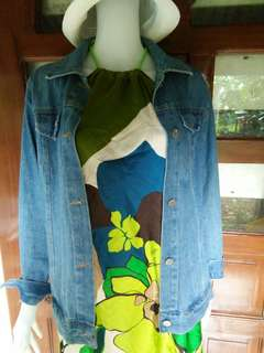 Denim Jacket & Scarve dress