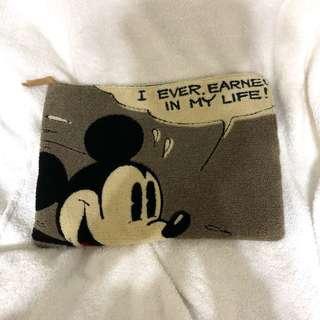 🚚 日本迪士尼毛巾布拼接手拿包