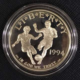 USA World Cup $1 Proof 1994S Silver Coin