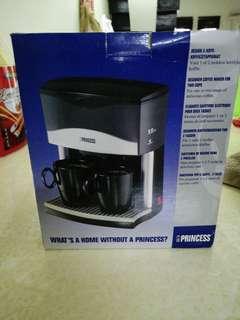 Princess Silver  2 cups coffee maker