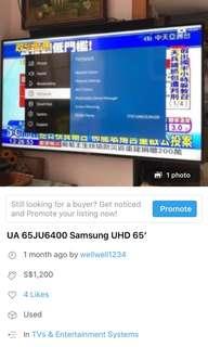"65""UHD Samsung"