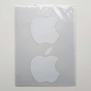 🚚 White Apple stickers  (5.5cm)