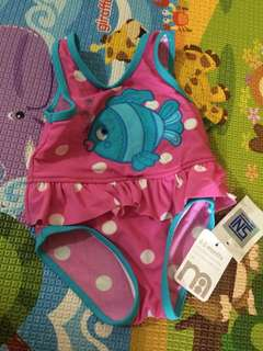 Mothercare Baby Swimsuit Swimwear 0-3M Fish