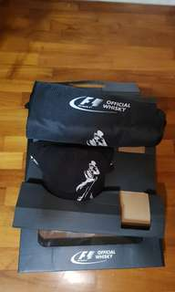 Official F1 Johnnie Walker whiskey cap and bag