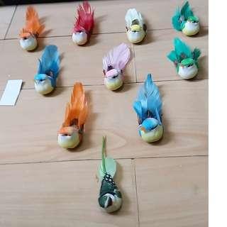 雀鳥裝飾品[含膠貼 ]