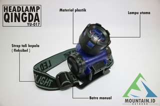 Sangat terang ! Headlamp head lamp led senter kepala camping outdoor lapangan