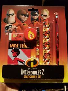 Incredibles 2 Stationery Set (BNIB)
