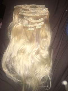 Blonde 20 inch hair extensions