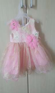 3 -6 months baby dress. Used once. Not for fussy people . Good condition
