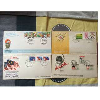 First Day Cover 1986 (4 Set)