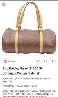 ETRO Paisley Barrel Satchel