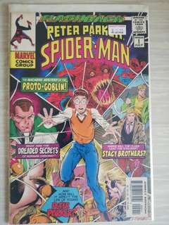 Flashback. Peter Parker Spider-Man Minus 1.