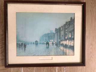 """Liverpool From Wapping""by John Atkinson Grimshaw"