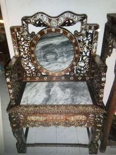 Blackwood chair with Mother of Pearl 老酸枝椅 1pcs only