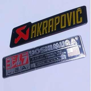 Akra/Yoshi exhaust stickers